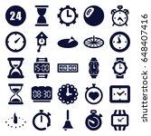 clock icons set. set of 25... | Shutterstock .eps vector #648407416