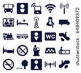 public icons set. set of 25... | Shutterstock .eps vector #648409372