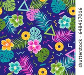 colorful tropical seamless...   Shutterstock .eps vector #648417016