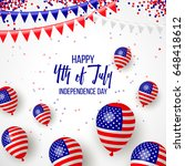happy independence day of usa ... | Shutterstock .eps vector #648418612
