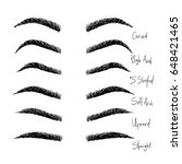 types of eyebrows.... | Shutterstock .eps vector #648421465