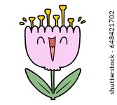cartoon happy flower | Shutterstock .eps vector #648421702