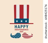 4th of july celebration... | Shutterstock .eps vector #648425176
