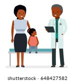 a visit to the doctor. the... | Shutterstock .eps vector #648427582