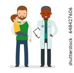 caring for the health of the... | Shutterstock .eps vector #648427606