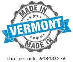 made in vermont round seal | Shutterstock .eps vector #648436276