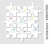 modern abstract 3d puzzle... | Shutterstock .eps vector #648437002