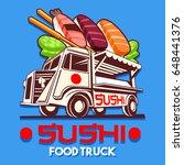 food truck logotype for... | Shutterstock .eps vector #648441376