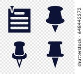 tack icons set. set of 4 tack... | Shutterstock .eps vector #648442372