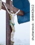 A Wooden Wayside Cross  ...