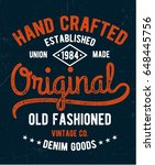 vintage denim typography for t... | Shutterstock .eps vector #648445756