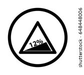 traffic sign steep decline  ... | Shutterstock .eps vector #648448006
