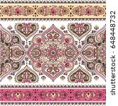indian floral paisley medallion ... | Shutterstock .eps vector #648448732