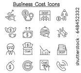 business cost   debt  tax ... | Shutterstock .eps vector #648452332