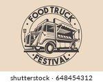food truck logotype for... | Shutterstock . vector #648454312