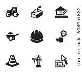 set of 9 editable building...