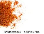 exotic red hot spice  saffron...   Shutterstock . vector #648469786