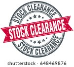 stock clearance round grunge... | Shutterstock .eps vector #648469876