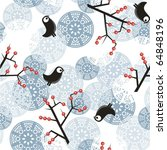 seamless winter pattern with...   Shutterstock .eps vector #64848196