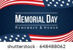 memorial day   remember and... | Shutterstock .eps vector #648488062