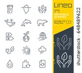 lineo editable stroke   ecology ... | Shutterstock .eps vector #648489622