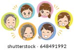 three generations family face... | Shutterstock .eps vector #648491992