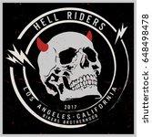 vintage biker graphics and... | Shutterstock .eps vector #648498478