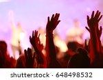 people show hand.worship | Shutterstock . vector #648498532