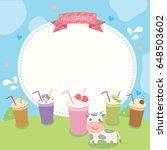 milkshakes various flavor menu...   Shutterstock .eps vector #648503602