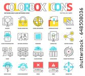 color box icons  network... | Shutterstock .eps vector #648508036