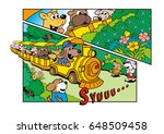 dog's character and amusement... | Shutterstock . vector #648509458