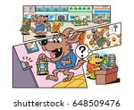 dog's character and amusement... | Shutterstock . vector #648509476