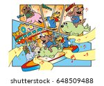 dog's character and amusement... | Shutterstock . vector #648509488