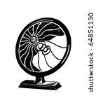 fan   retro clipart illustration | Shutterstock .eps vector #64851130