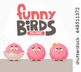 a set of funny birds from a... | Shutterstock .eps vector #648511372