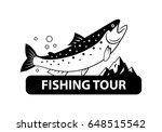 graphic fishing salmon  vector | Shutterstock .eps vector #648515542