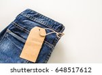 old blue jeans isolated for