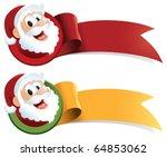 a christmas ribbon with santa...   Shutterstock .eps vector #64853062