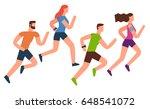 running flat design illustration | Shutterstock .eps vector #648541072