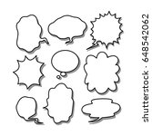 hand draw speech bubble  vector | Shutterstock .eps vector #648542062