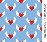 heart with wings pattern on the ... | Shutterstock .eps vector #648545662