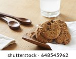 choco cookies on table.   Shutterstock . vector #648545962