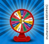 fate wheel  3d roulette vector... | Shutterstock .eps vector #648549442