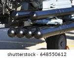 rocket launcher under wing of... | Shutterstock . vector #648550612