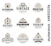 luxury monograms logos... | Shutterstock .eps vector #648552256