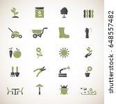garden icon set. vector. | Shutterstock .eps vector #648557482