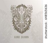 patterned boar head on... | Shutterstock .eps vector #648565636