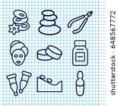 set of 9 therapy outline icons...   Shutterstock .eps vector #648567772