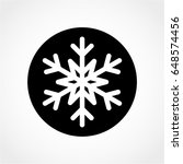 snowflake icon isolated on... | Shutterstock .eps vector #648574456