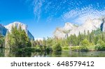 typical view of the yosemite... | Shutterstock . vector #648579412
